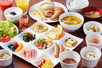 女性にも大人気の彩り豊かな野菜が盛りだくさん♪和洋ビュッフェの朝食付プラン