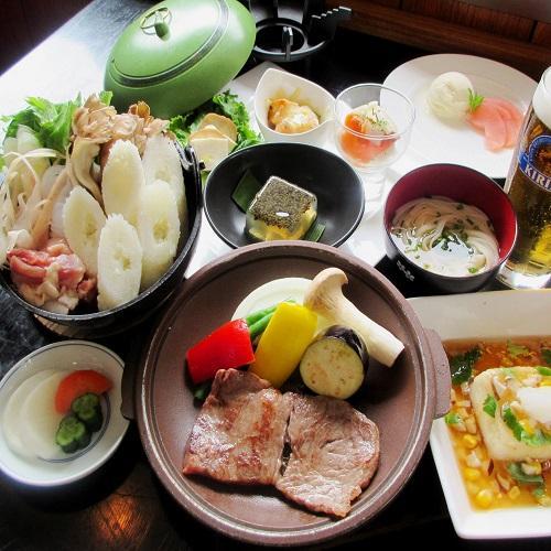 【あったかきりたんぽ鍋を堪能】秋田の料理を食べつくし!秋の2食付プラン 画像