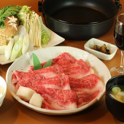 【全室禁煙】【とろける食感】日本の四大和牛!米沢牛すき焼きコース(2食付)温泉+駐車場+Wi-Fi無料 画像