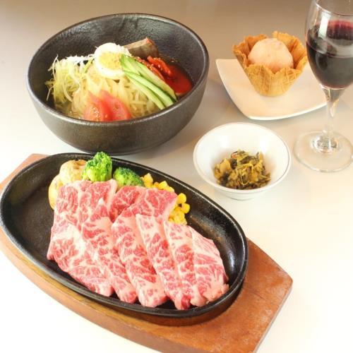 【夏のおすすめ!カルビ鉄板焼きと冷麺】麺もスープも自家製!季節のジェラートとワンドリンク付きプラン 画像