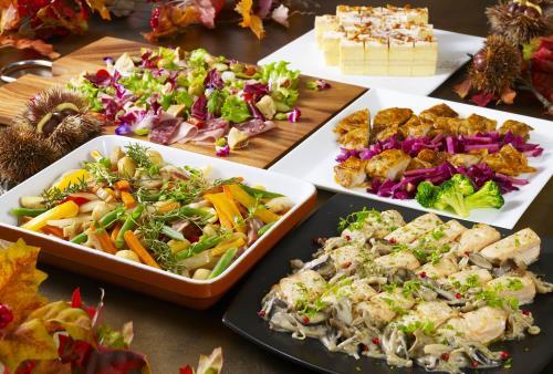 《夕朝食付》「秋の味覚フェア ディナーブッフェ」~秋の恵みをお楽しみ下さい~ 本プラン限定♪夕食時クラフトビール1杯付