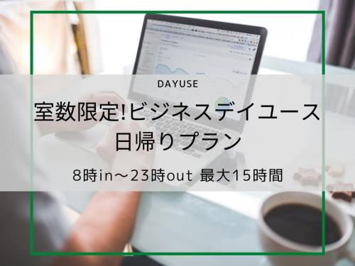 【室数限定・ビジネスデイユースプラン】AM8時~PM23時まで利用の最大15時間利用可能