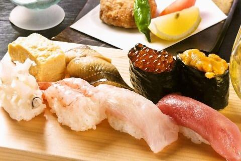 <朝夕食付>寿司コース付プラン 【お店までの送迎タクシー付】