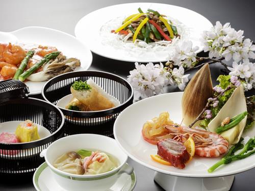 【春限定・桃李】新潟の春を満喫♪中国料理「桃李」の桜コースと信濃川お散歩プラン(2食付)