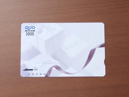 【3,000円分のQUOカード付き】いろいろ使えて便利!