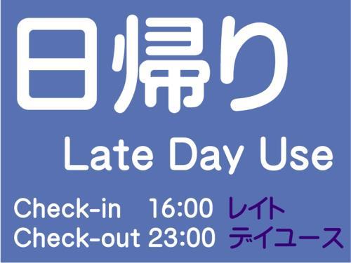 【日帰り】レイトデイユース・プラン(16:00~23:00)