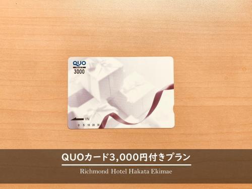 QUOカード3,000円付きプラン (GoTo対象外)