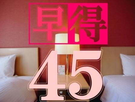 【早得45】45日前の予約でお得プライス!