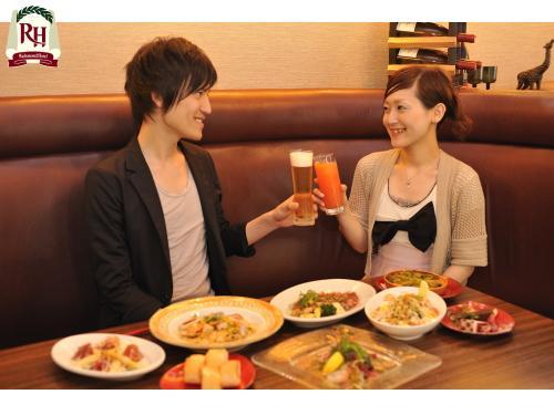 【朝・夕2食付】カップルお友達と!おまかせディナー&朝食プラン