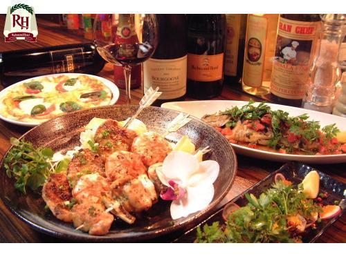 【夕食付】カップルお友達と!おまかせディナープラン
