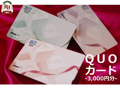 【QUO3000】コンビニ等で使えるクオカード3,000円-和洋バイキング朝食付き-