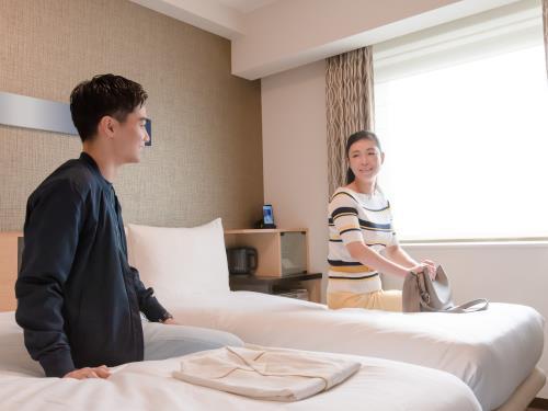 〇素泊まり〇【1人¥2800~(3名利用時)】ベッド2台スモールツイン(GoTo×対象外)